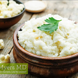 Sautéed Ground Beef and Onion Cauliflower Rice with Dino Kale Pesto.