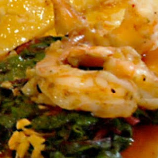 Bourbon BBQ Prawns with Greens