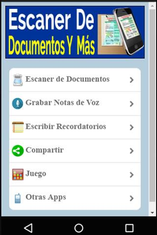 Escaner De Documentos Y Mas - Scanner- screenshot