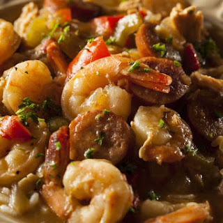 Shrimp and Sausage Gumbo with Rice Recipe