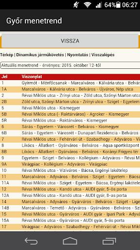 Győr menetrend