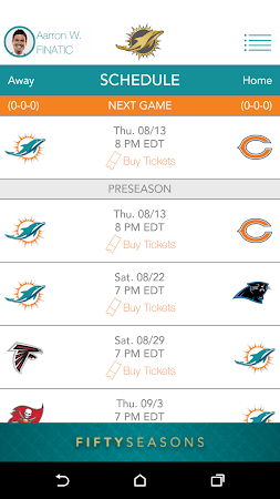 Official Miami Dolphins 2.10 screenshot 322303