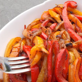 Caramelized Onions and Bell Peppers.