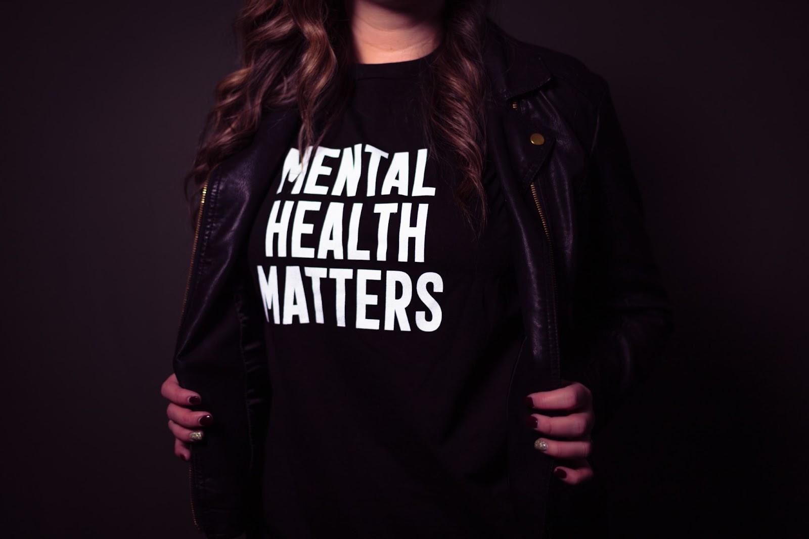 """mental health matters"" t-shirt"
