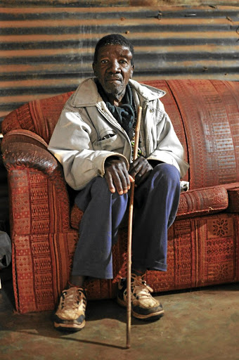 Kleinboy Dinake at his home at GaMogopa in Ventersdorp. / Tiro Ramatlhatse