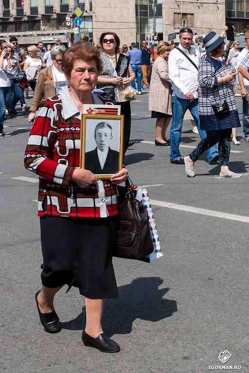 Репортажная фотосъемка. Фотоотчет - Бессмертный полк 9 мая 2016 года, Москва, Тверская.