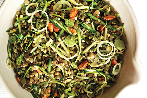 Brown Rice Salad with Crunchy Sprouts and Seeds Recipe