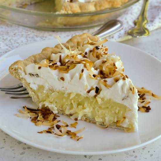 This Classic Made From Scratch Coconut Cream Pie Brings It All Together With A Buttery Flaky Pie Crust, Coconut Pudding, Fresh Whipped Cream And Toasted Coconut.