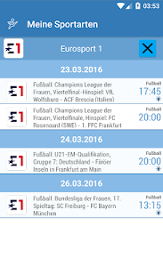 Live Sport im TV - Programm screenshot 5