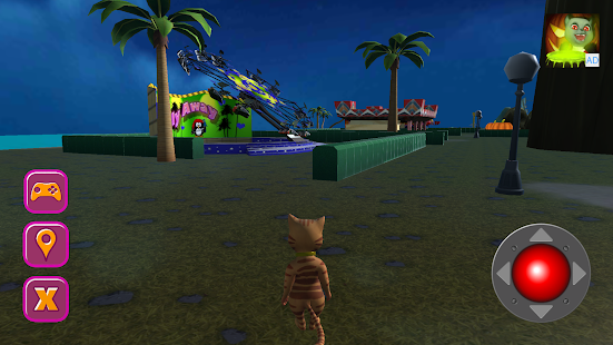 Halloween Cat Theme Park 3D- screenshot thumbnail