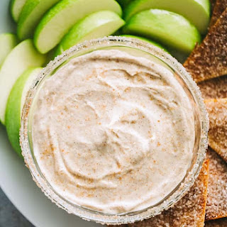 Skinny Churro Cream Cheese Fruit Dip.