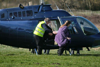 Photo: Steve disembarks the rear seat passengers