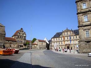 Photo: Bamberg. Domplatz. Alte Hofhaltung, Neuen Residenz
