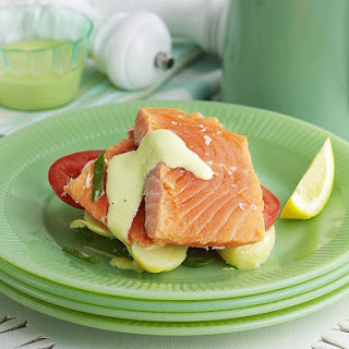 Poached Sea Trout with Herb Mayo