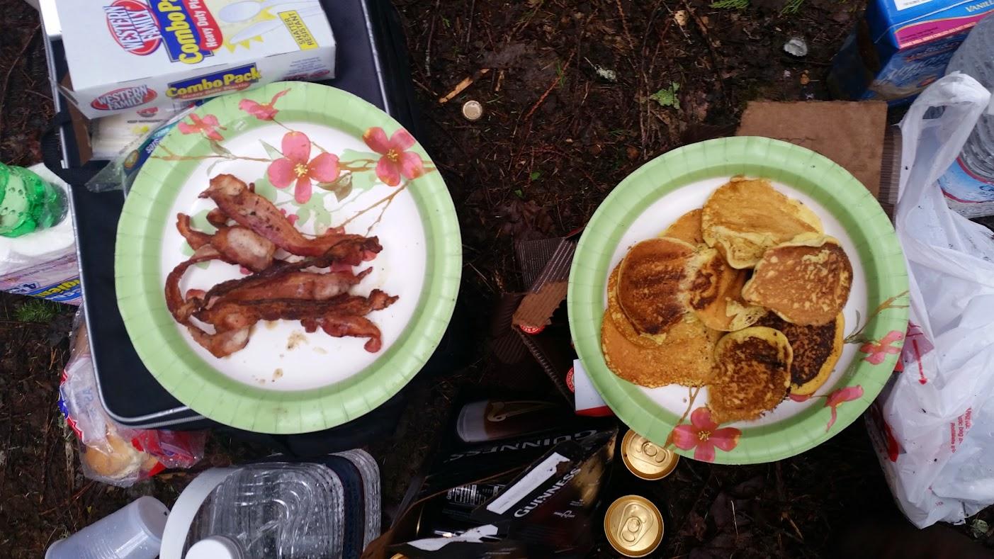bacon and cornbread pancakes