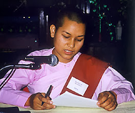 Photo: Ven. Pannayawati shares her experience of being a bhikkuni in Nepal.
