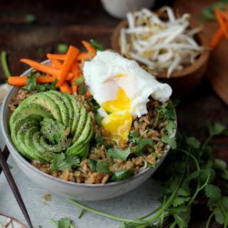 Cilantro Fried Rice Bowl + Avocado and Poached Egg