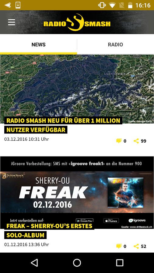 Radio Smash – Screenshot