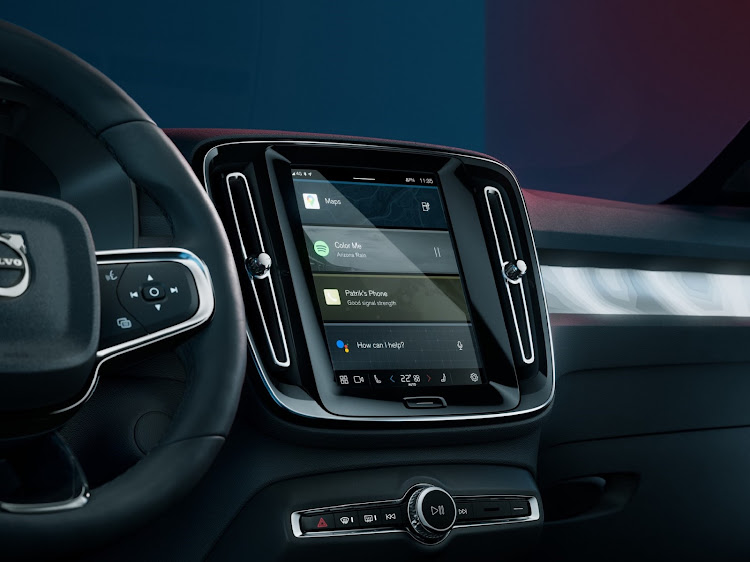 The C40 Recharge has an Android-based operating system for the infotainment. Picture: SUPPLIED