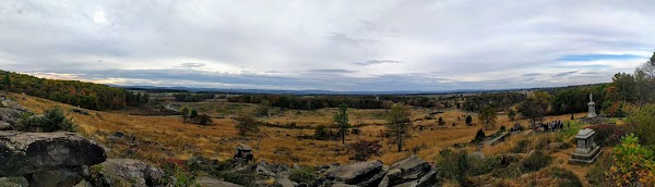 The battlefield from Little Round Top