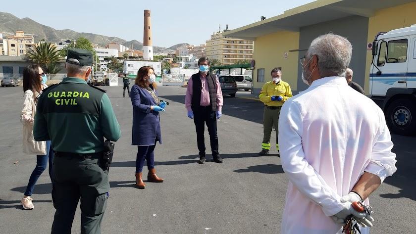 Desinfección INFOCA y visita alcalde y consejera.