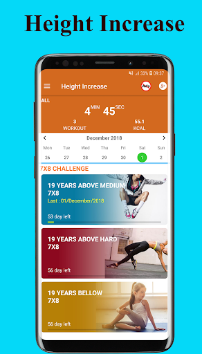 height increase exercise - workout height increase screenshot 1