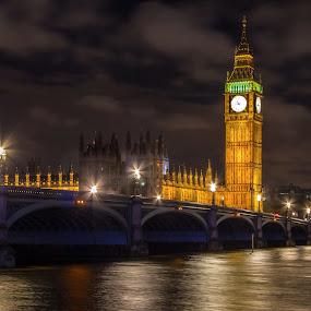 Westminster Bridge,Parliament and Queen Elizabeth Tower by Mircea Bogdan - Buildings & Architecture Public & Historical ( westminster bridge, parliament and queen elizabeth tower )