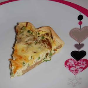 Savory Mushroom and Pea Quiche