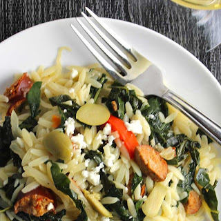 Orzo with Turkey Sausage and Kale