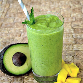 Mango Avocado Smoothie.
