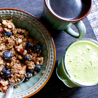 Breakfast Quinoa with Blueberries, Cranberries, and Almonds Recipe