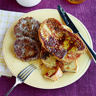 Black Pepper & Parmesan French Toast with Italian Sausage Patties