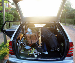 Photo: Packing the Frinton Festival into the back of the car
