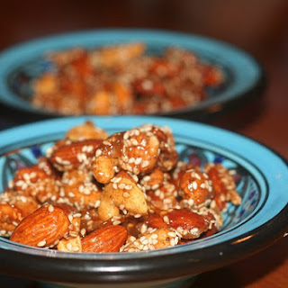 Honey Sesame Ginger Roasted Cashews and Almonds