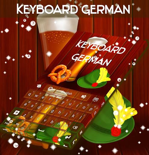 键盘的德国主题