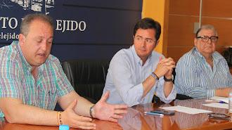 Concejal de Hacienda, José Francisco Rivera y el portavoz municipal / Ayuntamiento de El Ejido
