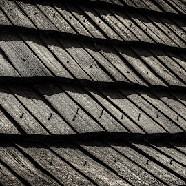 Ravages of time by Klaus Müller - Artistic Objects Other Objects ( roof, patterns, shingle, nails, weathered,  )