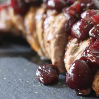 Cherry Shallot Pork Tenderloin.