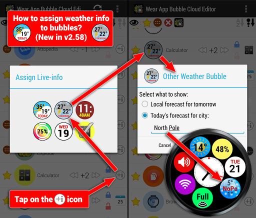 Bubble Cloud Wear Launcher Watchface (Wear OS) 9.39 screenshots 22
