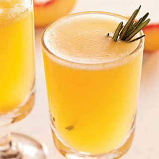Sparkling Rosemary-Peach Cocktails.