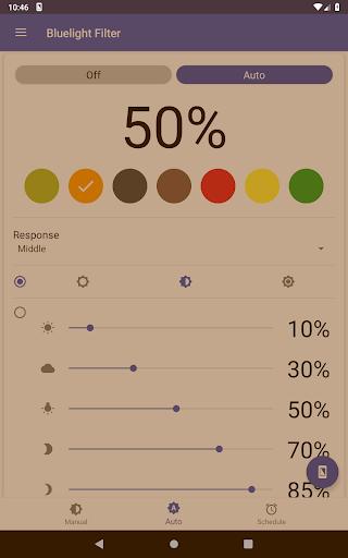 Bluelight Filter for Eye Care - Auto screen filter screenshot 17