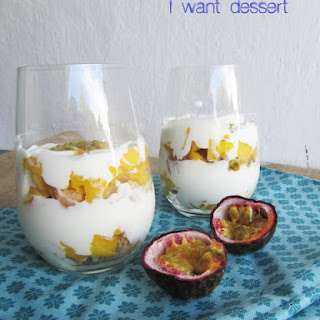Mango and Passionfruit Trifle.