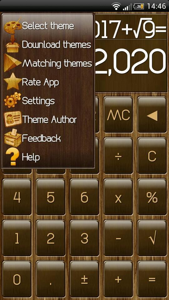Скриншот SCalc Wood Theme