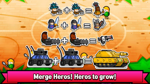 Merge Heroes Battle : Begin Evolve  captures d'u00e9cran 1