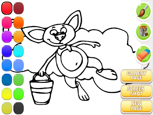 android For Kids Coloring - Cute Bat Screenshot 5