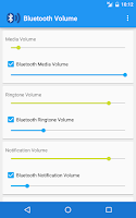Screenshot of Bluetooth Volume