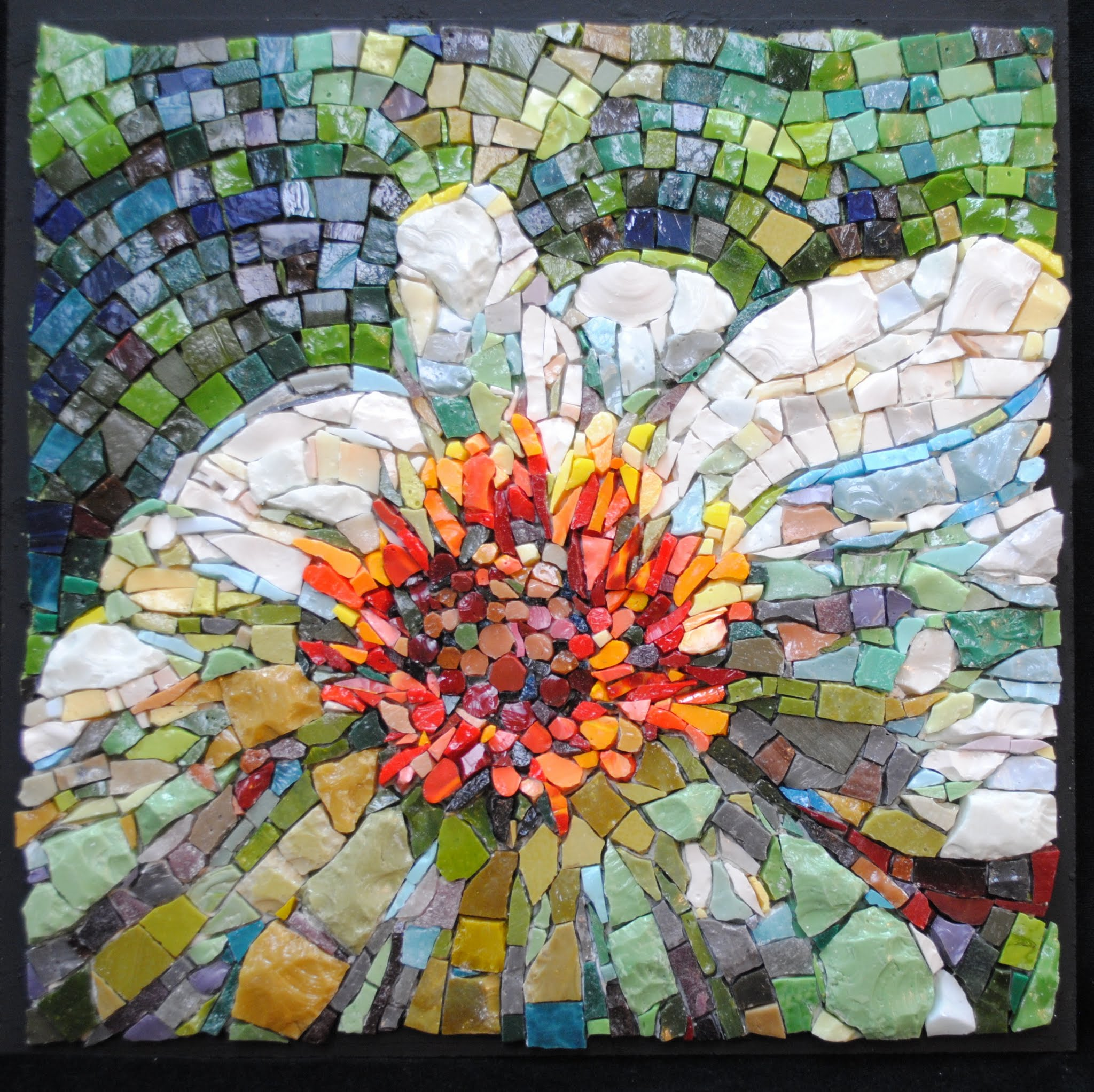 Zinnia in a Shady Garden by Brenda Pokorny MOW1034
