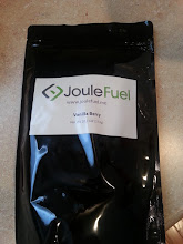 """Photo: JouleFuel Vanilla Berry  Taste Warm & Cool: sweetish thick vanilla milk with hints of berry. A mild natural flavour I like. Unfortunate tart/sour finish.  Texture warm & cool: like almond milk, with chia seeds  Fullness pretty full for hours, onset of fullness was very fast like 100% food  Notes Strong strawberry smell that comes out mild in actual flavor. Mixed half gallon unsweetened almond milk and 2c water because I ran out of milk. 1 bag is 4 servings. I like the flavor, and the texture is OK I can swallow the chia seed texture if I keep reminding myself """"DO NOT CHEW"""". This is because I prefer chugging and not wasting time sipping.  I dislike the tart/salty bit. I also dislike having to add my own oil. I don't hate it but I won't buy it again  buy: http://www.joulefuel.me/  Project Tag: https://amazonv.dreamwidth.org/tag/soylent+experiment  Spreadsheet: https://docs.google.com/spreadsheets/d/1c_ceOFR7S_4qUiVcEG3ykQiSRpuc13PnmcraBwklDWg/edit#gid=0  Photos: https://plus.google.com/photos/104379818983119483801/albums/6137295043742319505  writeup: http://amazonv.dreamwidth.org/57970.html"""