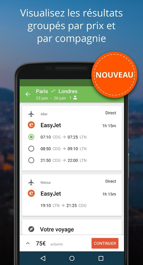 liligo.com - Avion, Train, Bus, Covoiturage – Capture d'écran