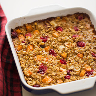 Persimmon & Cranberry Baked Oatmeal